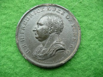 Fredrick Duke of York medalj? 45 mm 31 gram