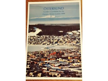 Vykort..ÖSTERSUND. . Candidate for the Olympic Winter Games 1994 ..OS...Jämtland