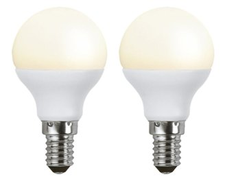 2-pack LED E14 3W (25W) - Klot