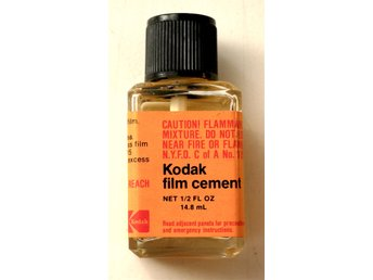 Kodak Film Cement 14,8 ml i glasflaska oanvänd