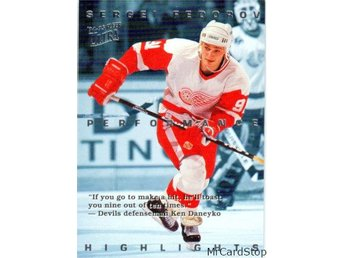 Ultra 1994-95 Sergei Fedorov Highlights 7 Sergei Fedorov Detroit Red Wings