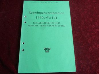 REGERINGES PROPOSITION 1990/91: 141,  BÖCKER