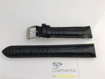 18 mm -- NYTT -- klockarmband i äkta läder - Alligator präglat -- svart armband - Boliden - 18 mm -- NYTT -- klockarmband i äkta läder - Alligator präglat -- svart armband - Boliden