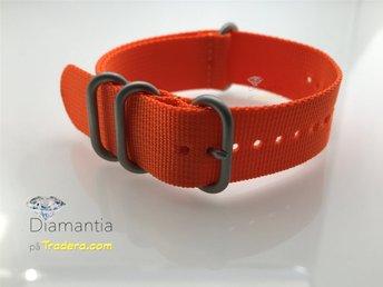 22 mm -- NYTT -- Orange klockarmband -- Rejält armband zulu nato band - Boliden - 22 mm -- NYTT -- Orange klockarmband -- Rejält armband zulu nato band - Boliden