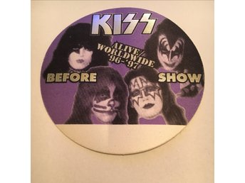 SUPER RARE! KISS Back stage pass Alive World Wide/Reunion tour 1996/1997