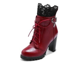 Dam Boots Shoes Women Fashion Daily Party Footwears Red 37