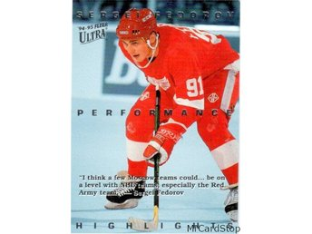 Ultra 1994-95 Sergei Fedorov Highlights 3 Sergei Fedorov Detroit Red Wings