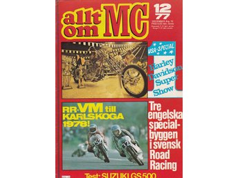 Allt Om Mc 1977-12 Suzuki GS 500 E Stor Test..Indian 1929