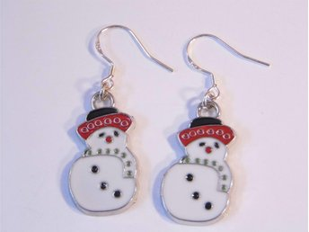 Snögubbe örhängen / Snowman earrings