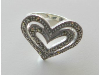Ring 925 Sterling Silver Markasiter