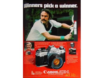 CANON AE-1 - WINNERS PICK A WINNER, TIDNINGSANNONS Retro 1978