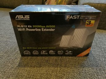 Ny Asus PL-N12 kit - homeplug / powerline (nätverk via elnätet)