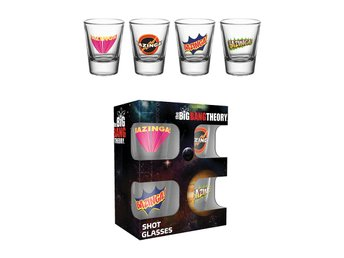 Shotglas (4st) - The Big Bang Theory Bazinga