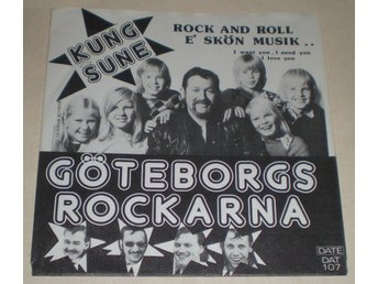 Kung Sune SINGELOMSLAG Rock and roll e skön musik 1974