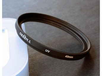 UV filter 43mm  passar Canon, Nikon, Pentax m fl