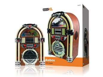 basicXL Tabell Radio Jukebox FM / AM CD Brun