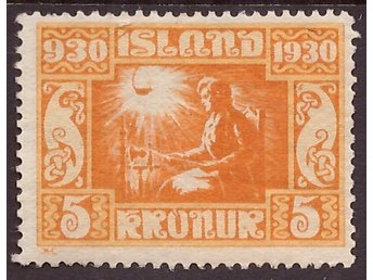 F 186 *. 5 kr orange Alltinget 1930.