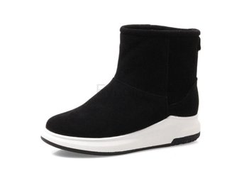 Dam Boots Cold Winter Snow Botas Woman Footwear Black 40