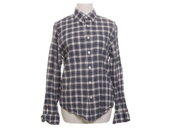 Abercrombie & Fitch, Buttondown-skjorta, Strl: S, Muscle, Blå/Vit