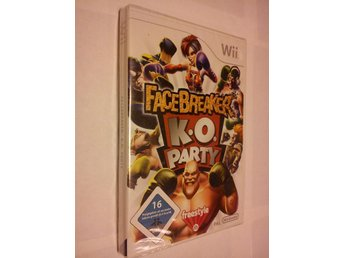 Wii: Facebreaker/Face Breaker K.O Party - Inplastat!