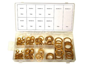140 Pc Solid Copper Sump Plug Washer Set