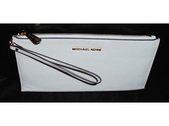 MICHAEL Michael Kors Bedford Large Zip Leather Clutch Bag, White - Sennan - MICHAEL Michael Kors Bedford Large Zip Leather Clutch Bag, White - Sennan