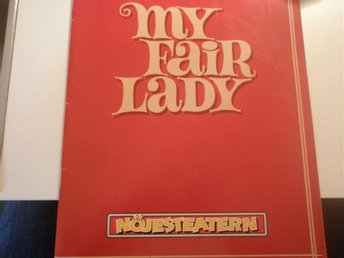 My fair lady teater program med Jan Malmsjö i huvudrollen
