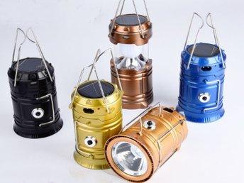 Camping Flashligh Solar/USB Rechargeable ficklampa adjustable Led Lampor Hiking - Hongkong - om du inte betalar inom 5 dagar så kommer ditt köp att avbrytas,kom ihåg att varje bud och köp är bindande, så buda inte om du inte planerar att fullfölja ditt köpColor will be sent at random.BeskrivningSpecification: Material: ABS Endu - Hongkong