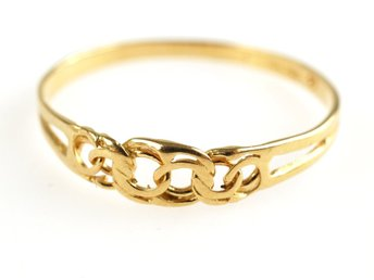RING, 18K, 18,8mm, 1,08g, guld, bismarck, b: 1,6-4,3mm.