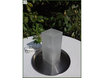 IKEA lampa retro i frostat glas fyrkantig hög glödlampa skickas med