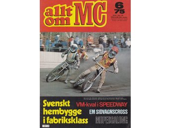 Allt Om Mc 1975-6 Speedway..Moped Salongen Alla Mopeder 1975