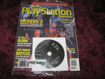 PLAYSTATION MAG NR 30 2000 MED CD SKIVA (MEDIEVIL 2) NY INPLASTAD