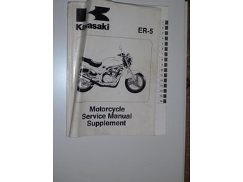 Verkstadshandbok supplement Kawasaki Er-5