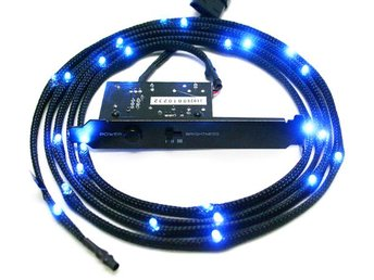 NZXT Sleeved LED Kit Cable 2M - Blue