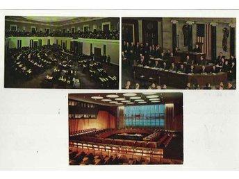 USA, Congressen, Senaten och UN, 3 obeg kort - Huskvarna - USA, Congressen, Senaten och UN, 3 obeg kort - Huskvarna