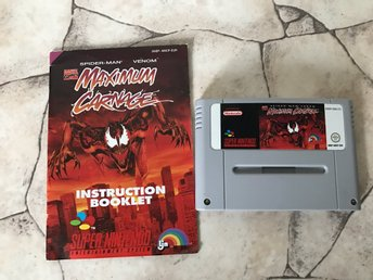 Maximum Carnage SNES EUR