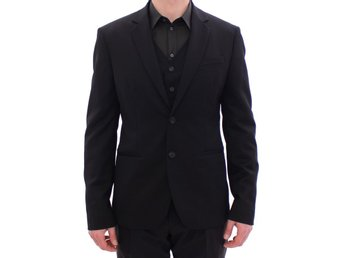 Balmain - Black two button blazer with Vest