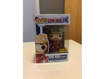 Funko Marvel Pop Captain America Civil War Iron Man Unmasked Bobble head figurer