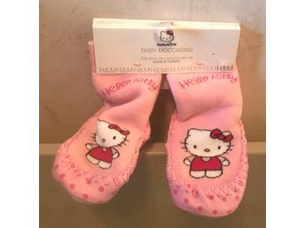 1 par Rosa / Vita Hello Kitty Mockasiner stl: 21-22 NY SISTA