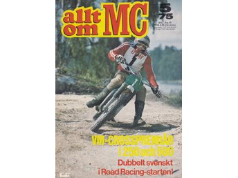 Allt Om Mc 1975-5 Cross VM 500..Husqvarna WR-CR