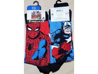 2 par strumpor Captain America & Spiderman! 43-46