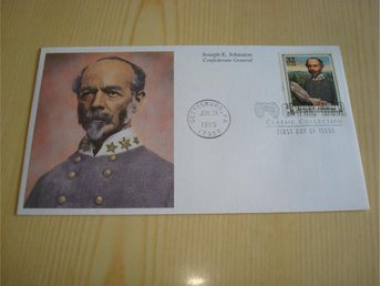 Civil War Confederate General Joseph E. Johnston 1995 USA förstadagsbrev