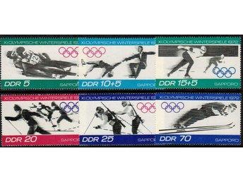 DDR Vinter OS iSapporo 6v.kpl/** 1971 - Nybro - DDR Vinter OS iSapporo 6v.kpl/** 1971 - Nybro