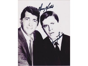 DEAN MARIN & JERRY LEWIS PRE-PRINTED AUTOGRAF FOTO