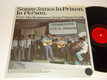 SONNY JAMES In Prison, In Person, LP Columbia 1975 USA