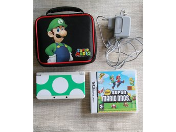 Nintendo New 3ds Basenhet + spel New Super Mario Bros + Luigi väska ( ds, dsi )