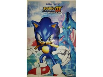 Sega Sonic the Hedgehog Adventure DX dubbelsidig poster affisch plansch - Iggesund - Sega Sonic the Hedgehog Adventure DX dubbelsidig poster affisch plansch - Iggesund