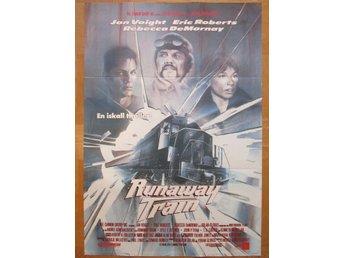RUNAWAY TRAIN Svensk bioaffisch 70x100 (Jon Voight, Akira Kurosawa) - Båstad - RUNAWAY TRAIN Svensk bioaffisch 70x100 (Jon Voight, Akira Kurosawa) - Båstad