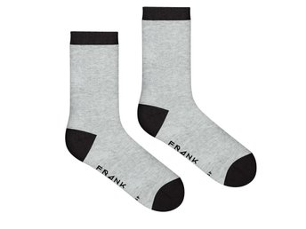 Frank Dandy Bamboo Heel & Toe Crew Sock, Black & Grey (41-46)
