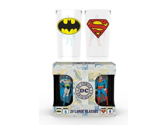 Glas (set med 2) - DC Comics Batman and Superman